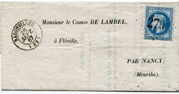MEURTHE ET MOSELLE De BADONWILLER LAC Partielle Du 26/09/1867 N°29 Oblitéré GC 279 - 1849-1876: Klassik