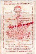 87 -LIMOGES - BUVARD P. PONCET- PHARMACIE PHARMACIEN-EX CHIMISTE DE LA MARINE-19 AV. PONT NEUF-ESTOMAC D' ALGO DIGESTINE - Buvards, Protège-cahiers Illustrés