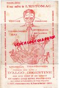 87 -LIMOGES - BUVARD P. PONCET- PHARMACIE PHARMACIEN-EX CHIMISTE DE LA MARINE-19 AV. PONT NEUF-ESTOMAC D' ALGO DIGESTINE - Papel Secante