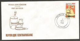 Centrafricaine 1982 530 FDC Artisanat Alimentation Objets à Piler - Centrafricaine (République)