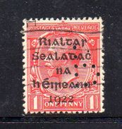 T242 - IRLANDA 1922 PERFIN PERFINS , 1 D.  Usato - Usati
