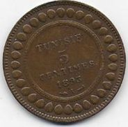 TUNISIE - 5 Centimes  1893 A - Colonie