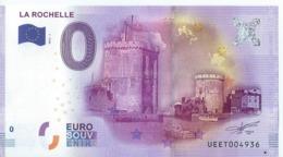 2016 BILLET TOURISTIQUE 0 Euro   La Rochelle         Dpt 17   Numero Aleatoire  Port 1.50    Numero Aleatoire - Essais Privés / Non-officiels