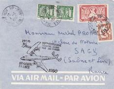 FRAGMENT DE LETTRE DE 1950 INDOCHINE 20EME ANNIVERSAIRE PREMIERE LIAISON PAR AIR FRANCE SAIGON RARE - Autres - Asie
