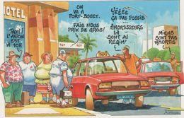 CPA:  TAXIMAN Veut Ménager Sa Voiture.  (D1824) - Taxi & Carrozzelle