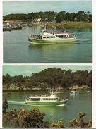 Vannes: Les Vedettes Vertes - 2 Cartes - Excursions Sur Le Golfe Du Morbihan Et La Rivière D'Auray - - Vannes