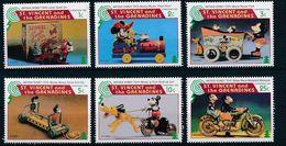 St. Vincent 1995 Christmas Antique Disney Toys Mickey Donald Cartoon Art Animation Stamps (30) MNH SC 2231-2238 - Disney