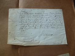 Velin Manuscrit Maison Du Roi Henri IV Signée Par Adrian Auzère Valet Du Roi 31/12/1608 Royauté Noblesse Reçu Parat - Autógrafos