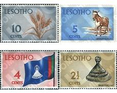 Ref. 337778 * MNH * - LESOTHO. 1971. EARTH PRODUCTS . PRODUCTOS DE LA TIERRA - Lesotho (1966-...)