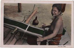 Femme Seins Nus Nude Nu Viet Nam Métier à Tisser - Vietnam