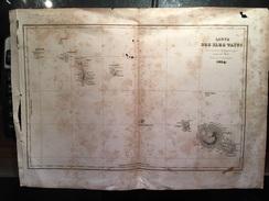 CARTE 1834 ILES TAHITI TAITI  D 'URVILLE MAUPITI TOURAI BORABORA TAHAA EIMEO TAIARABOU PACIFIQUE POLYNESIE - Geographical Maps
