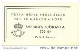 ZWEDEN 1944 Postzegelboekje Zeekaarten PF-MNH-NEUF - 1904-50