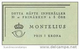 ZWEDEN 1943 Postzegelboekje Oscar Montelius PF-MNH-NEUF - 1904-50