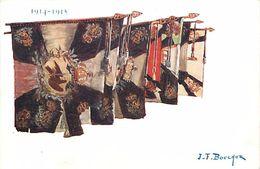 -ref-624- Guerre 1914-18 - Illustrateur J-f Bouchor - Drapeaux Allemands - 1914-1915 - Illustrateurs - - Weltkrieg 1939-45