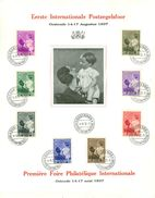 Belg. 1937 - 447/54 Eerste Internationale Postzegelfoor/Première Foire Philatélique Internationale  Oostende 14-08-1937 - FDC
