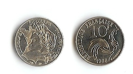 10 Francs: Jimenez, 1986, Nickel (14-286) - K. 10 Franchi