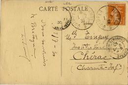 CACHET AMBULANT QUIMPER NANTES 1930 - Railway Post