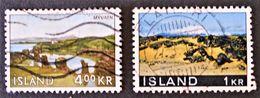 PAYSAGES 1966/70 - OBLITERES - YT 356 + 387 - 1944-... Republique
