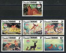 Grenada 1980 Christmas Cartoon Animation BAMBI Art Holiday Celebrations Movie Film Cinema Stamps (37) MNH SC#411-419 - Disney