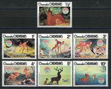 Grenada 1980 Christmas Cartoon Animation BAMBI Art Holiday Celebrations Childhood Stamps (37) MNH SC#411-419 - Childhood & Youth