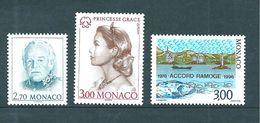 Monaco Timbres  De 1996  N°2036 A 2038    Neufs ** Parfait - Monaco
