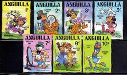 Anguilla 1981 Easter Holiday Disney Cartoon Animation Rabbit Bee Animal Bird Art Celebrations Stamps (38) MNH SC 434-440 - Disney