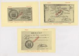 Reproduction Sur Carte : Gemeente Lichtervelde : 3 Kasbons - Guerre 14-18 (z4200) - Lichtervelde