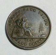 CANADA - QUEBEC - Half Penny / Un Sou (1852) - Bank Token - Monetary /of Necessity