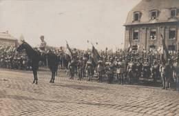 Caen - Carte Photo -guerre 1914-18  Parade Caserne Hamelin (photo A. Junior  Caen) - Scan Recto- Verso - Caen