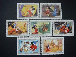 Mongolia 1983 Sorcerer Apprentice Disney Mickey Cartoon Animation Art Movie Film Cinema Stamps (6) MNH SC 1290-1298 - Disney