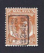 JAPANESE OCCUPATION MALAYA MALAISIE 1942 OVPT BLACK KING GEORG VI JAPAN JAPON STRAITS S. BUREAU MILITAIRE MICHEL 8b ** - Ocupacion Japonesa
