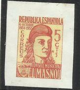 SPAIN ESPAÑA SPAGNA 1934 1937 Viñeta Local EL MASNOU (Barcelona) ELMASNOU 5 Cts. CONELL MUNICIPAL MNH - Vignette Della Guerra Civile