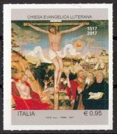 """Italia 2017 Chiesa Evangelica Luterana """"Crocifissione""""  Quadro Dipinto Cranach Vecchio MNH Mistake Errore Leggi Descriz. - Fouten Op Zegels"""