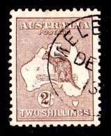 Australia 1913 Kangaroo 2 Shillings Brown 1st Watermark CTO No Gum - 1913-48 Kangaroos