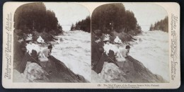 Photo Stéréoscopique STEREO Stereoview - The Mad Waters Of The Famous Imatra Falls - Finland - Chutes D'Imatra Finlande - Stereoscopic