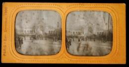 Photo Stéréoscopique STEREO Lanterne Stereoview - Paris Expo Universelle 1900 - Le Château D'Eau - Photos Stéréoscopiques