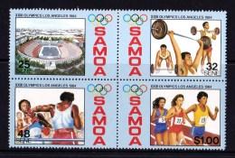 Samoa 1984 Los Angeles Olympics Block Of 4 MNH - Samoa