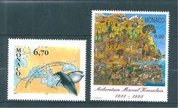 Monaco Timbres  De 1997  N°2133  Et  2134   Neufs ** Parfait - Unused Stamps