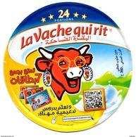 """ETIQUETTE FROMAGE LABEL CHEESE """" La Vache Qui Rit """" 24 - Cours De Soutien Offerts Etiketten N° 76032784 Labels Portions - Fromage"""