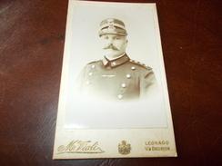 B656 Foto Cartonata Militare M.viali Legnago Cm6x10,5 - Photographica