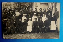 Cpa CARTE PHOTO GROUPE De MALADES Et INFIRMIERES  - HOPITAL HASPARREN En 1916 - Hasparren