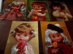 B656  5 Cartoline Bambole Non Viagg. - Cartoline