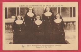 Leuze - Soeurs Missionnaires En Mission De Mwilambogo ( Kwango, Congo ) , 7 Mai 1929 (  Voir Verso ) - Leuze-en-Hainaut