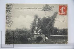 Old Postcard France -  Berck Plage - Petit Pont Sur La Route De Groffliers- Posted - Berck