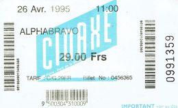 Ticket D'entrée à La Cinaxe, La Villette, Paris 26/04/1995 - Tickets D'entrée