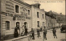 49 - CHERRE - Rue Du Commerce - Etablissement Brisset - Mercerie - Bonneterie - France