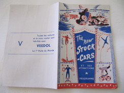Programme De Spectacle Sport Automobile - The New Stock-Cars Et Ses Attractions - Charles Rigoulot - Programmes
