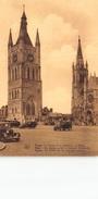 Ypres Ieper  Het Belfort En De St Maertens Hoofdkerk      I 806 - Ieper