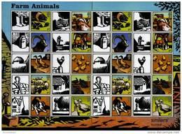 GREAT BRITAIN - 2005  FARM ANIMALS GENERIC SMILERS SHEET   PERFECT CONDITION - Fogli Completi