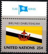 United Nations NY MNH 1989 Flag Flags Brunei - Drapeau Drapeaux Flagge Fahnen Banderas Bandera Bandiere Bandiera - Stamps